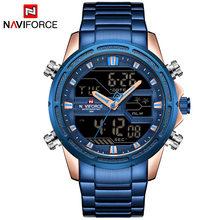 Мужские армейские наручные часы NAVIFORCE, роскошные Брендовые мужские часы, модные спортивные часы, мужские водонепроницаемые кварцевые часы(Китай)