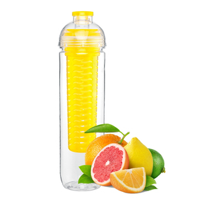 Flavor Infuser Water Bottle with Fruit Plastic Transparent PBA Free 24oz