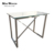 Outdoor events wedding furniture stainless steel leg glass high top bar table
