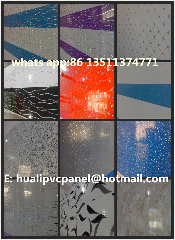Low Price 3D PVC wall Panels Haining Laminated PVC Panels for Ceiling and Wall
