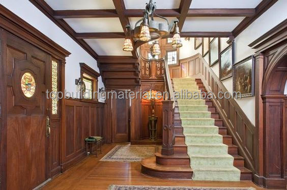 Antique Wood Staircase Indoor Wood Staircase Solid Teak Wood Staircase