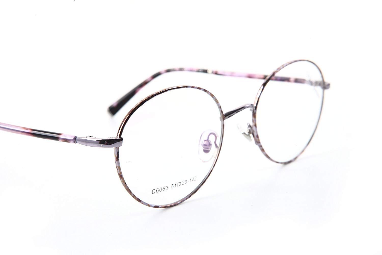 5d83ef876f Get Quotations · KHOTY Eyeglasses Frame Imported Alloy Memory Metal Women s  Men s Optical Fashion Eyewear Glasses Frame D6063