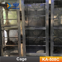 KA-508C Double layer Breeding Cat cage for sale cheap stainless