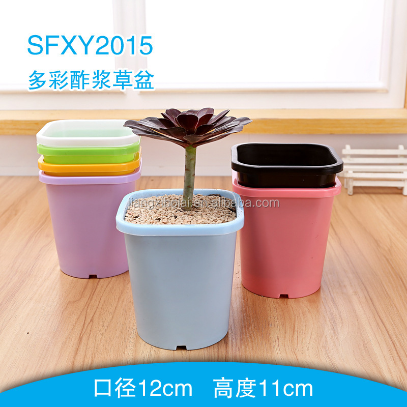 plastic flower pot PP injection moulding plastic plant pot