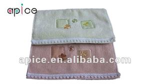 border of white lace embroidery plain dyed square hand towel