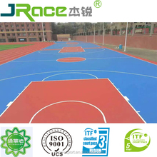 synthetic ITF acrylic tennis court surface