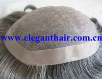 human hair gray hair men toupee with wholesale price