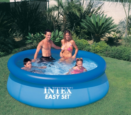 High quality blue /white well-know brand pool intex above ground swimming pool