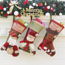 Monogrammed Red Top Woodland Embroidered Christmas stockings