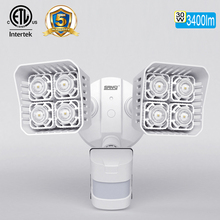 Outdoor waterproof 2 head ceramic led security light with sensor