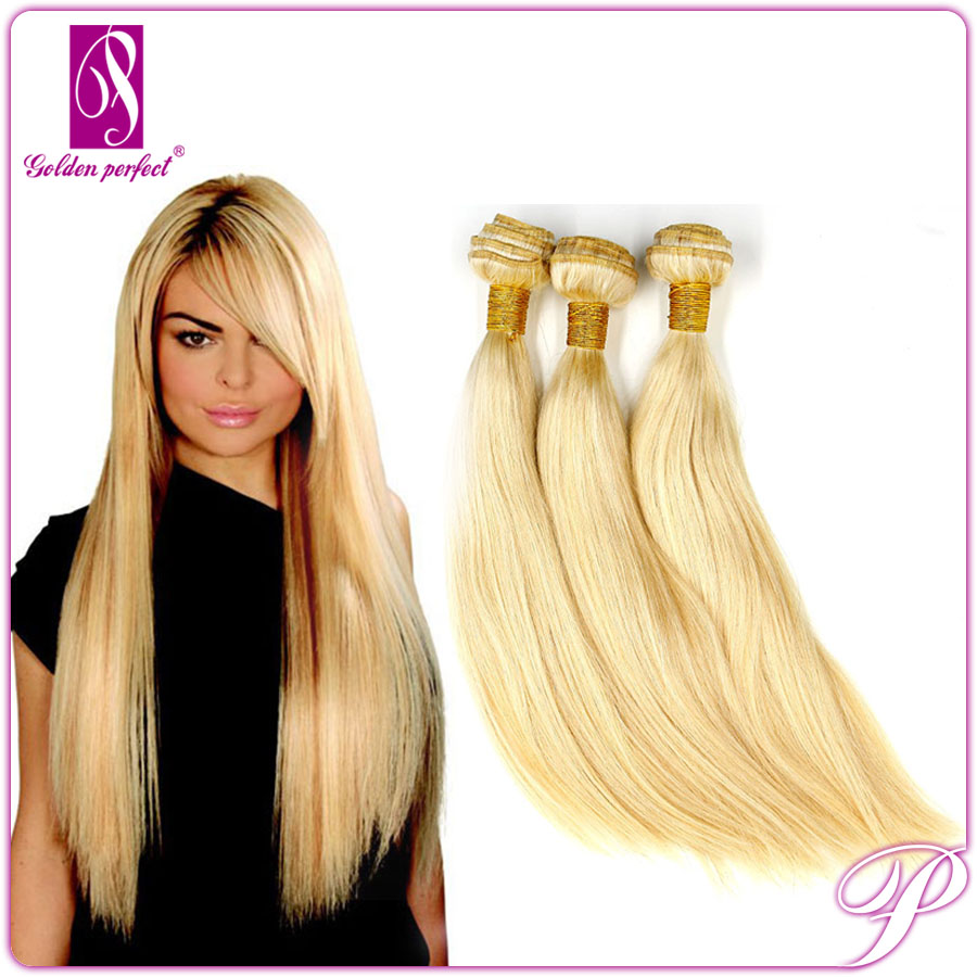 Natural Style Bresilienne Human Hair Weaving Blonde Mongolian Hair