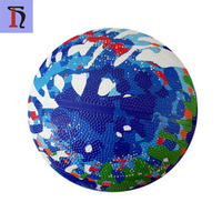 mixed colors custom printed size 3 rubber basketball for kids cheaper price 8 panels rubber basketball ball