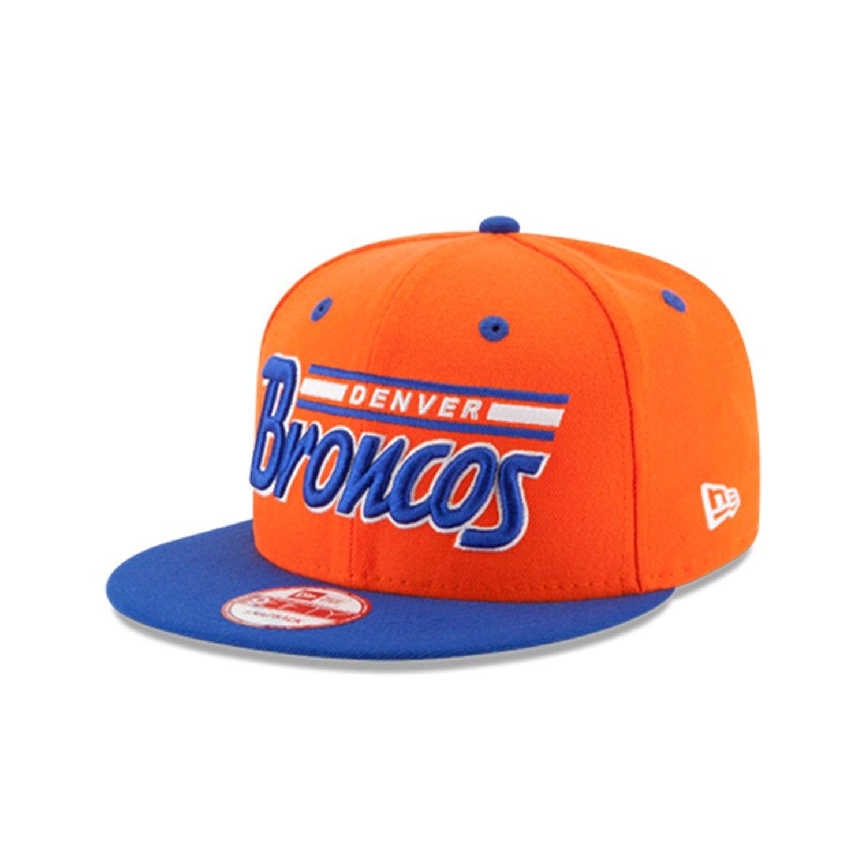 f8aec94e970e9 Get Quotations · Denver Broncos New Era Orange 9Fifty 2T Retro Snapback Hat
