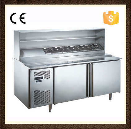Single-temperature Style and refrigerator type Pizza Preparation Table
