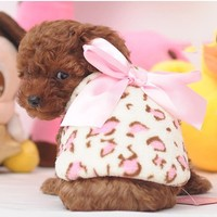 Kitten bunny Teddy teacup puppy dog clothes fall and winter clothes pet clothes vest