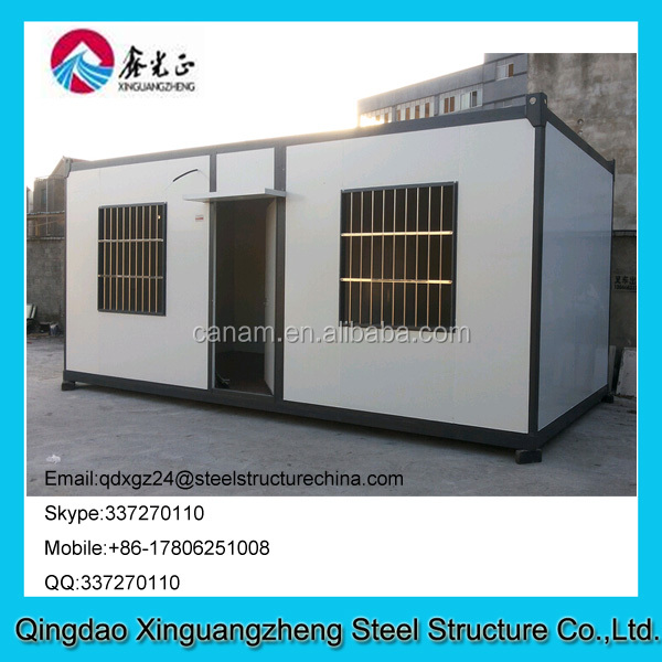 Prefab flat pack container living house can be used for office bedroom