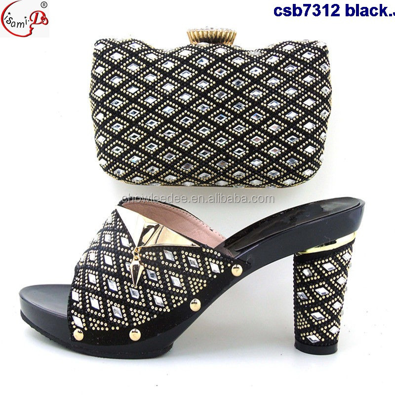 hot csb7312 bag 2017 stock in sale shoes top black wedding iItalian and and fashion shoes bag 55rFpR