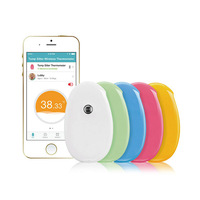 Bluetooth Digital Smart Wireless Body Temperature Monitor baby Fever Alarm Thermometer