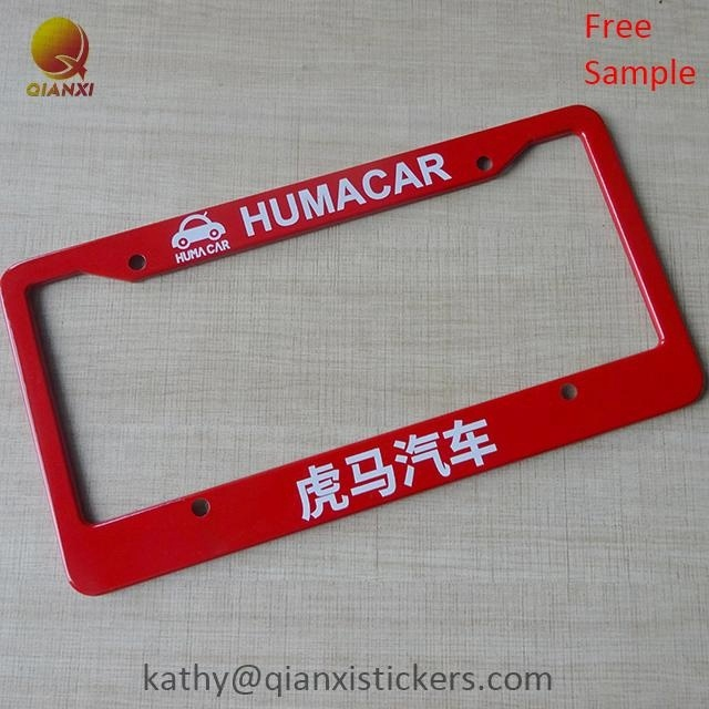 Hot koop custom metalen aluminium decoratieve auto nummerplaat frame