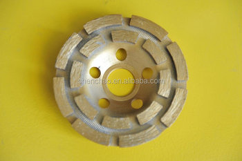 125*22.23/20mm double cup wheel have long grinding life for grinding and polishing concrete,masonry,brick,block etc