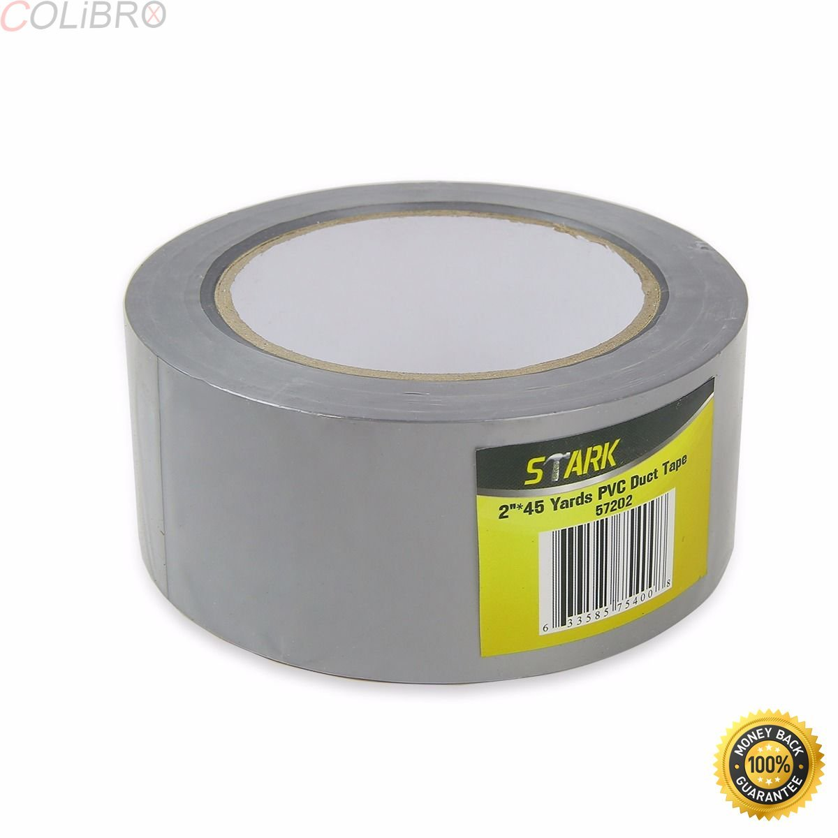"COLIBROX--Touch Duct Tape Multi-use 2"" x 45 Yard Grey Repair Wrapping Sealing Protecting. Utility-grade duct tape offers polyethylene-coated cloth with rubber adhesive and low-tack edges."