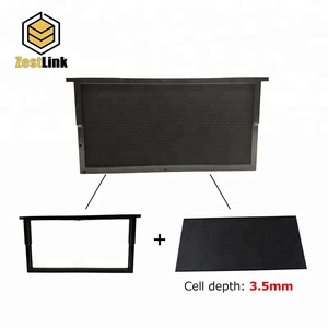 Beekeeping equipment black plastic bee hive frame assembled frame with extra deep foundation sheet