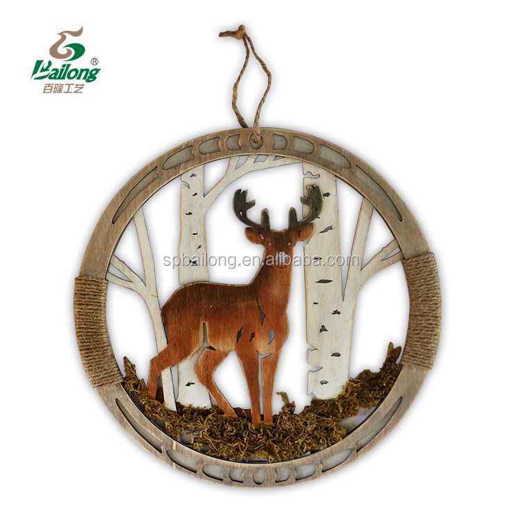 Ready to ship professional factory rustic wooden animal wall decor vintage home decoration