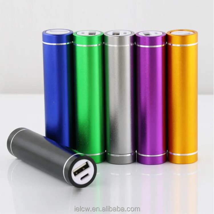 2017 cheapest 18650 battery portable cylinder metal power bank with 2200mah or 2600mah or 3000mah