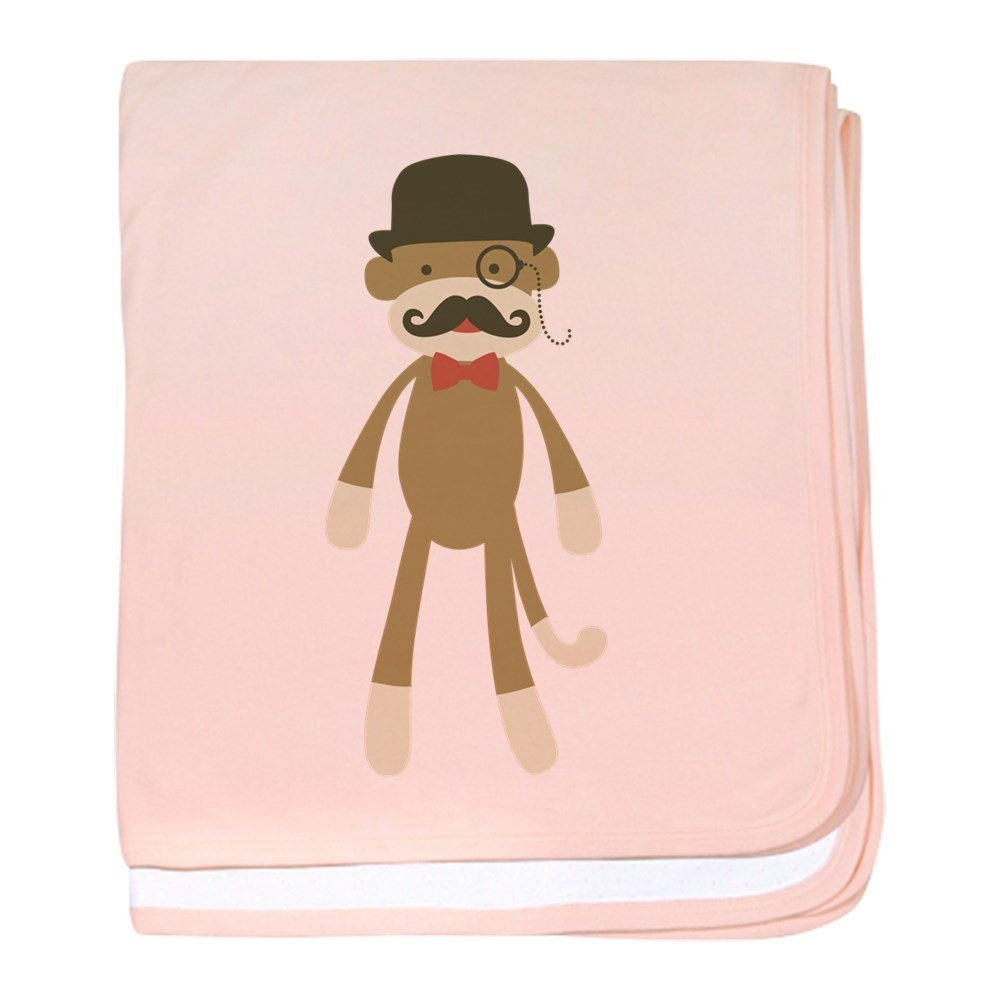 e87b99cdb1e Get Quotations · CafePress - Sock Monkey With Mustache And Top Hat - Baby  Blanket