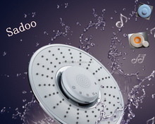 Touchscreen bluetooth music shower head with speaker SD35102 in white,chrome or orange