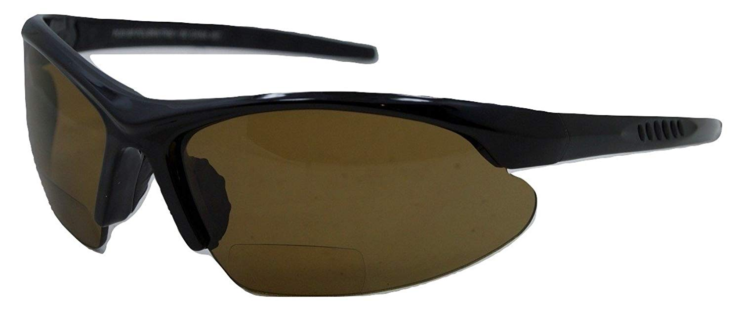 8898dfb6cf Get Quotations · In Style Eyes Blazin Maui Wrap Polarized Nearly Invisible  Line Bifocal Sunglasses