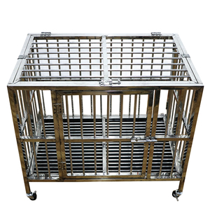 High quality Strong foldable Stainless Steel dog cage heavy duty dog kennel