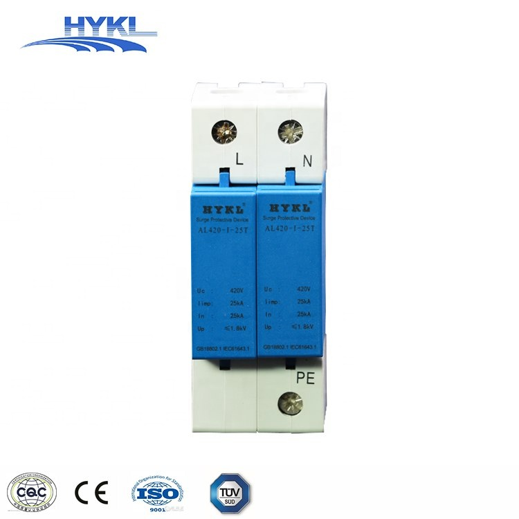HYKL light street surge protector Class B/Type <strong>1</strong> Uc 420Vac 40KA Single Phase +NPE SPD