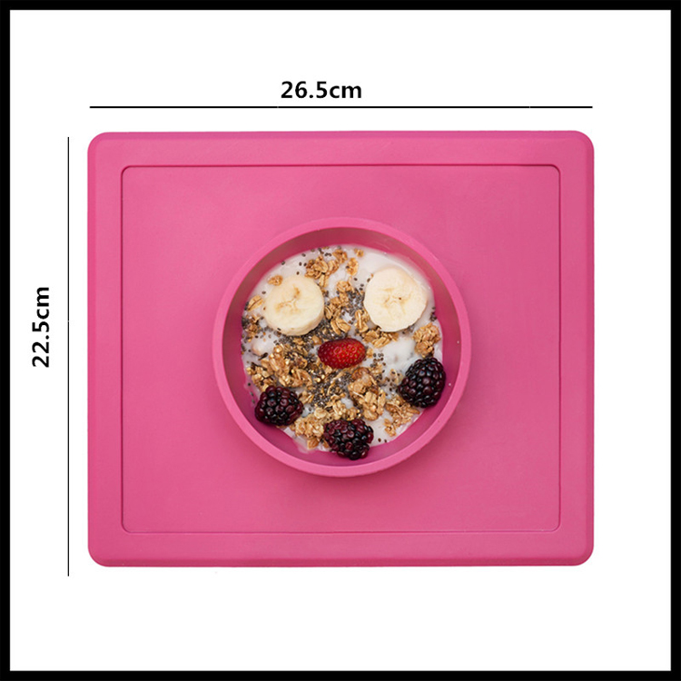 Contemporary Plate Silicone Baby Bowl Feeding Plate Dinner Plate Child Silicone Mat for Feeding Placemat