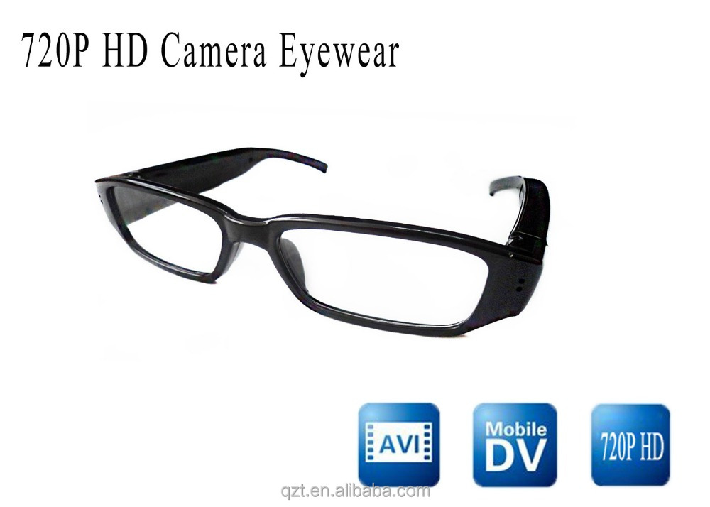 Fashion spy 720P HD video glasses cam mini pinhole eyeglasses camera