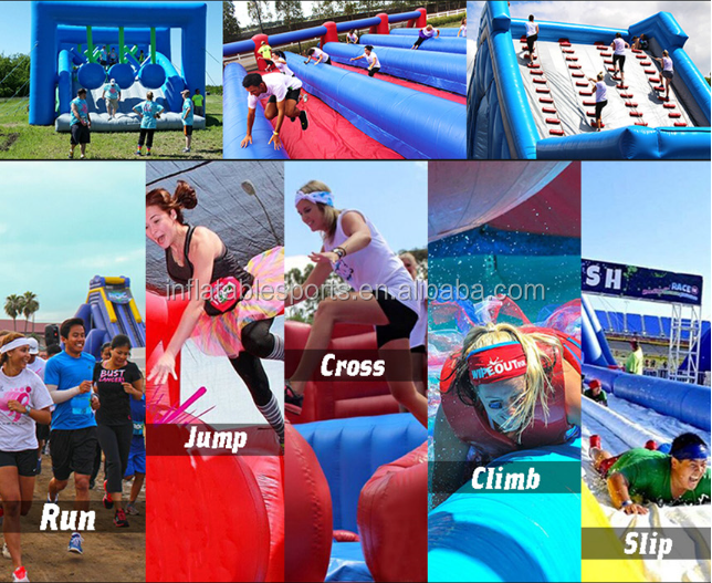 2019 New Design Custom Made Funny Outdoor Crazy Games Adult Kids Inflatable 5k Obstacle Course for Sale