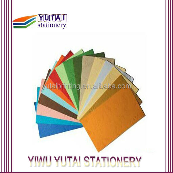 High quality leather grain paper binding cover