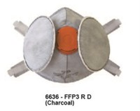 FFP3 R D reusable industrial respirator charcoal half mask
