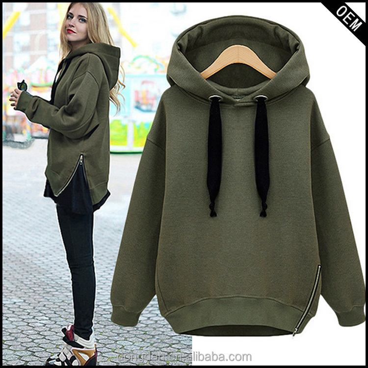 Woman Hoodie With Thick Strings Design Girls Casual Loose Hoodie
