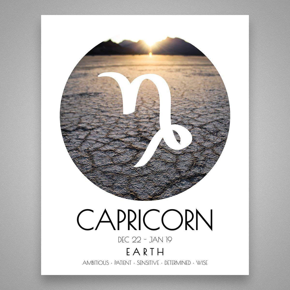 Capricorn Wall Art - Earth Star Sign Print - Zodiac Gift - Capricorn Gift - Capricorn