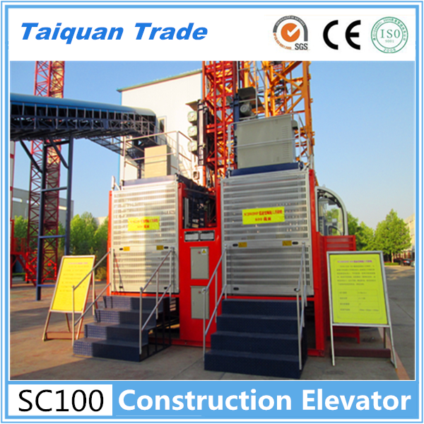 New condition SC100/100 Double cage construction elevator