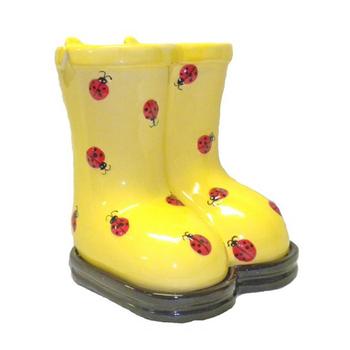 Yellow Ceramic Rain Boots Planter Buy Ceramic Boot Planter Garden