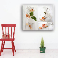 Beautiful flower in vase modern pop simple designs for fabric art painting
