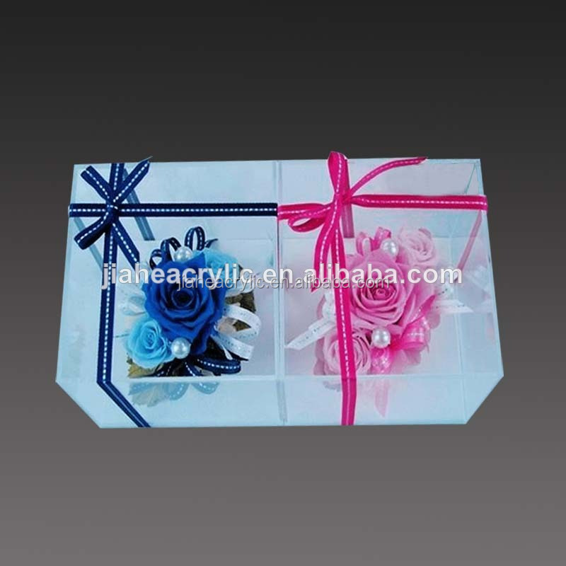 clear acrylic gift box decoration flower