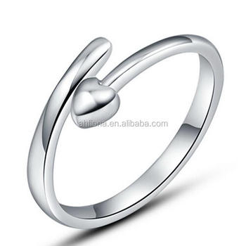 F20057n 925 Sterling Silver Ring Heart Imprint Ring Buy Fashion