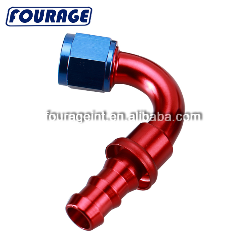 A.N -06 45 ° Bend Swivel Seal  Aluminum Reusable Hose End With METRIC HEX