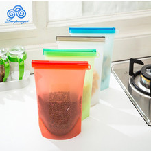 Silicone Reusable Fresh Sealing Vacuum Food Safe Storage Frozen Fridge Food Preservation Bag