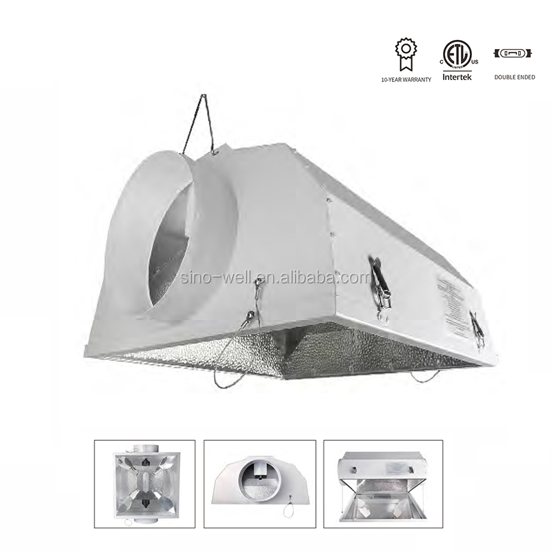 China Honest Supplier SINOWELL Smart-Cool Air Cooled Double Ended Hydroponics Reflector Lights