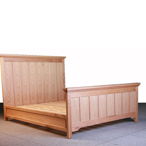 American modern solid wood double bed frame