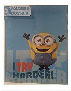 Minions Folders and School Supplies: Erasers, Pens, Pencils, Highlighters, Pouch and Sanitizer Bundle of Twelve
